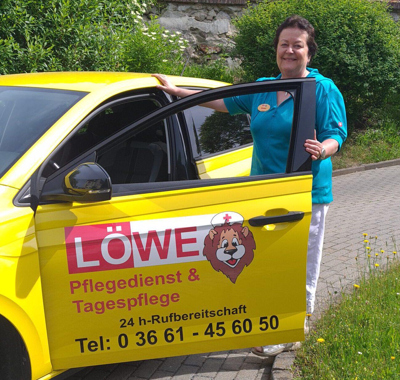 Ramona Wellmann, Pflegedienst LÖWE Greiz